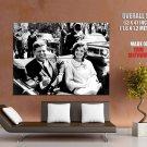 JFK John Jacqueline Kennedy US President Car 1961 Rare GIANT Huge Print Poster