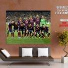 Barcelona FC Squad 2014 Valdes Pique Messi Neymar GIANT Huge Print Poster