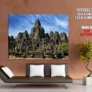 Cambodia Angkor Wat Ancient Buddhist Khmer Temple Giant Huge Wall Print Poster
