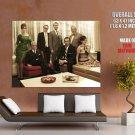 Mad Men Drama TV Series Cast Giant Huge Print Poster