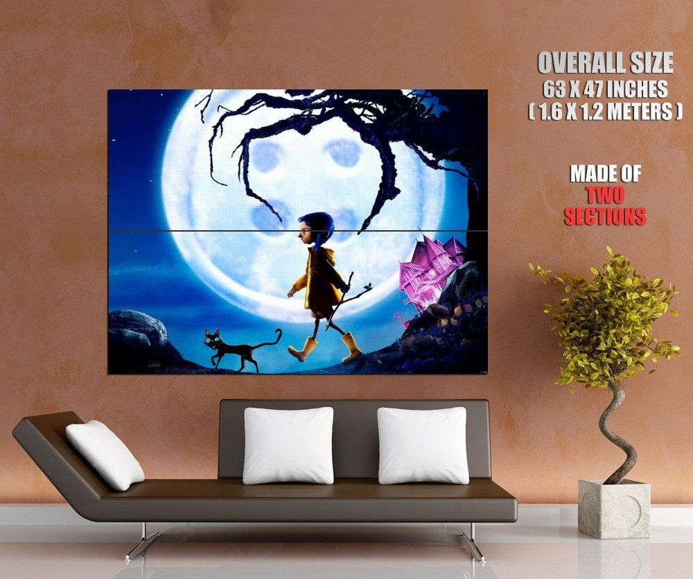 Coraline Fantasy Cartoon Movie Giant Huge Print Poster