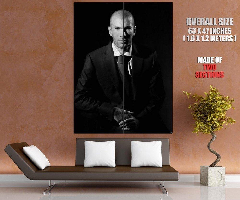 Zinedine Zidane Superstar FC Real Madrid Football Sport Giant Huge Print Poster