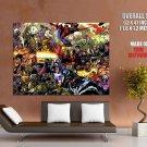 Marvel Heros Marvel Comics Giant Huge Print Poster