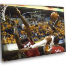 Paul George Signature Miami Heat Posterized 50x40 Framed Canvas Print