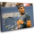 Rafael Nadal Tennis Player Champion 50x40 Framed Canvas Art Print