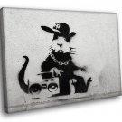 Banksy Graffiti Hip Hop Rabbit Art 50x40 Framed Canvas Art Print