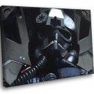 TIE Fighter Pilot Painting Artwork Star Wars Art 40x30 Framed Canvas Print