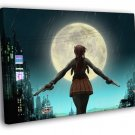 Revy Black Lagoon Guns Night Moon City Anime 40x30 Framed Canvas Print