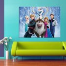 Frozen Animated Movie Elsa Anna Olaf Kristoff Sven 47x35 Print Poster