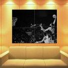 Kareem Abdul Jabbar Milwaukee Bucks Bw Sport Huge Giant Print Poster