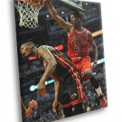 Jimmy Butler Dunk Chris Bosh Bulls Basketball Sport 30x20 Framed Canvas Print