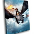 How To Train Your Dragon Animated Film 30x20 Framed Canvas Art Print