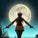 Revy Black Lagoon Guns Night Moon City Anime Manga Art 32x24 Wall Print POSTER
