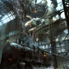 Steampunk Painting Fantasy Art Rail Road Train 24x18 Print Poster