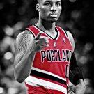 Damian Lillard Portland Trail Blazers BW Basketball 16x12 Print Poster