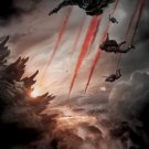 Godzilla 2014 Paratroopers Flares Amazing Movie 32x24 Wall Print POSTER