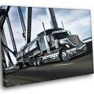International LoneStar Truck Real Car Bridge 40x30 Framed Canvas Art Print