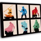 Star Wars 6 Movies Original Trilogy Characters 50x40 Framed Canvas Print