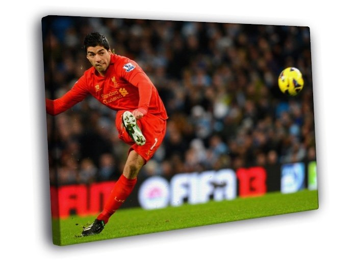 Luis Suarez Free Kick Ball Amazing Football 40x30 Framed Canvas Print