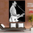 Queen Awesome BW Rare Freddie Mercury Guitar Rock Band GIANT Huge Print Poster