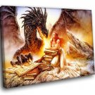 Luis Royo Fantasy Dragon Art 50x40 Framed Canvas Art Print