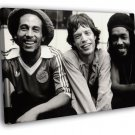 Bob Marley Mick Jagger Peter Tosh 1978 Retro 30x20 Framed Canvas Print