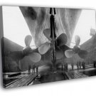 Titanic Propellers RMS Port Old 1912 Vintage 30x20 Framed Canvas Print