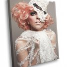 Lady Gaga Beautiful Makeup Pop Music Rare 40x30 Framed Canvas Print