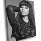 Nicki Minaj Beautiful Makeup R B Music BW Rare 30x20 Framed Canvas Print