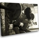 Fitness Sexy Ladies Exercise Weight Barbell 50x40 Framed Canvas Art Print