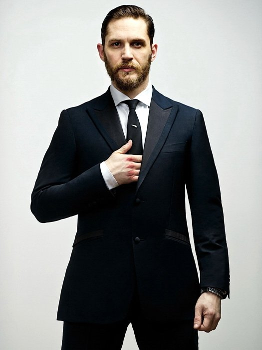 Tom Hardy Suit Beard Badass Handsome Amazing Actor 16x12 Print POSTER