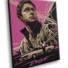 Drive 2011 Movie Ryan Gosling Art Artwork 30x20 Framed Canvas Print