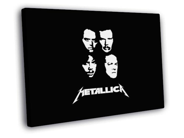 Metallica Great BW Art Hard Rock Music Band 50x40 Framed Canvas Print