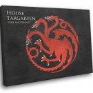 House Targaryen Logo Sigil Game Of Thrones 50x40 Framed Canvas Print
