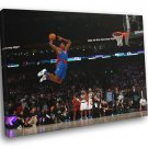 Dwight Howard Superman Slam Dunk Contest 2009 50x40 Framed Canvas Print