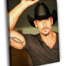 Tim McGraw Portrait Hat Tattoo Handsome 30x20 Framed Canvas Print