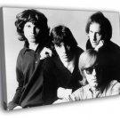 The Doors Retro Jim Morrison John Densmore 50x40 Framed Canvas Print