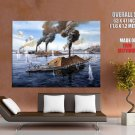 Ironclad Warship CSS Virginia USS Monitor Merrimack GIANT Huge Print Poster
