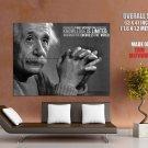 Albert Einstein Physicist Scientist Quote Giant Huge Print Poster