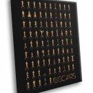 Academy Awards Winners Oscar Statuettes Movies 50x40 Framed Canvas Print