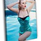 Scarlett Johansson Swimsuit Hot Sexy Seductive 50x40 Framed Canvas Print