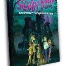 Scooby Doo Mystery Incorporated Cartoon Art 50x40 Framed Canvas Print