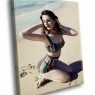 Lana Del Rey Top Singer Pop Music 50x40 Framed Canvas Art Print