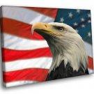 Bald Eagle American Symbol Patriotic 50x40 Framed Canvas Art Print