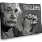 Albert Einstein Physicist Scientist Quote 50x40 Framed Canvas Art Print