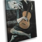 The Old Guitarist Pablo Picasso Painting Art 40x30 Framed Canvas Print