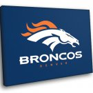 Denver Broncos Football Logo Hockey Sport Art 40x30 Framed Canvas Print