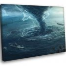 Tornado Sea Storm Lightning Twister Awesome 40x30 Framed Canvas Print