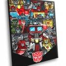 Transformers Generation 1 Autobots Classic Art 40x30 Framed Canvas Print