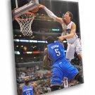 Blake Griffin Posterizes Kendrick Perkins Monster 40x30 Framed Canvas Print